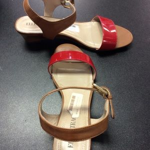 Apple Red Paten Sandals